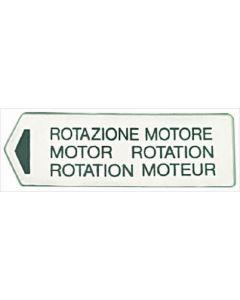 MOTOR ROTATION LABEL