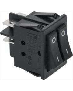 DOUBLE ONE-POLE SWITCH BLACK