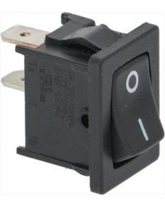 BLACK SINGLE-POLE SWITCH 10A 250V