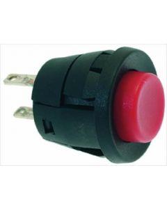 RED SINGLE POLE PUSH-BUTTON 250V 2A