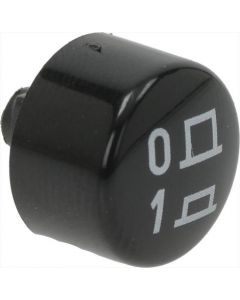 BLACK ROUND CAP ø 12 mm