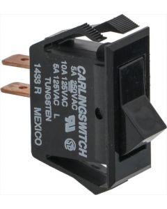 BIPOLAR PUSH-BUTTON BLACK 10/5A 250/125V