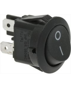 SWITCH 1-POLE BLACK ø 20 mm