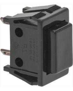 BLACK UNIPOLAR PUSH-BUTTON 5A 250V