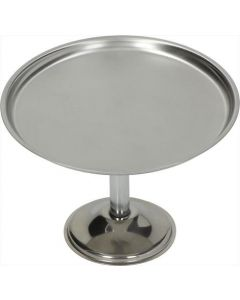CAKE STAND STAINL. STEEL ø 140x100 mm