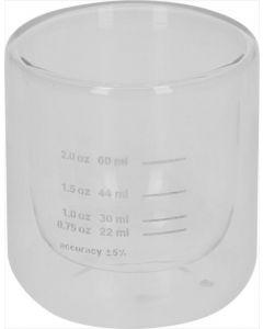 MEASURED SHOT GLASS PODWÓJNY WALL 22/60 ml