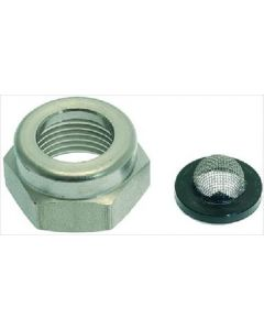 RING NUT 3/8F WITH MESH