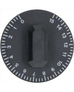 GAŁKA CZARNE ø 44 mm 0-15'