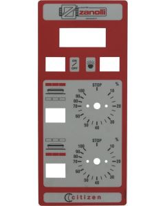 PLATE MECHANICAL GREY-RED 315x135 mm
