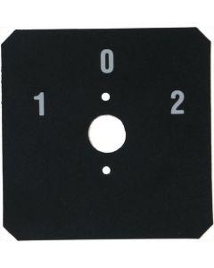 ADHESIVE LABEL 1-0-2 CZARNE 58x58 mm