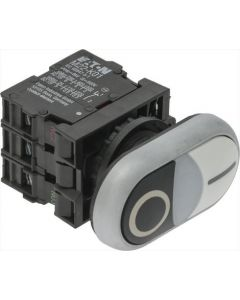 PUSH-BUTT.PANEL 0-I WHITE-BLACK 15A 500V