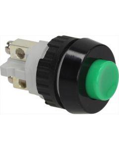 GREEN SINGLE-POLE PUSH-BUTTON 0.7A 250V